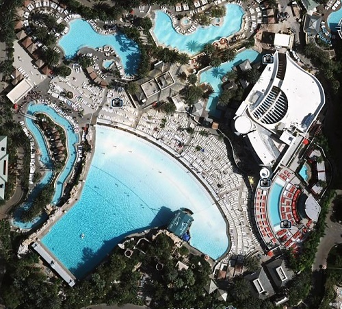 Poollandschaft des Mandalay Bay